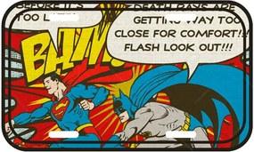 Placa de Parede DC Comics Batman and Superman Bam em Metal - Urban