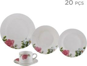 Aparelho de Jantar Porcelana Roses