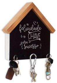 Porta Chaves e Cartas Casinha Felicidade