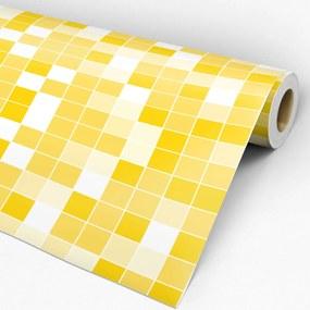 Adesivo Papel de parede pastilha amarelo gema