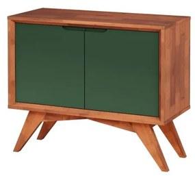 Buffet Uriel 2 Portas Natural e Verde Musgo - Wood Prime MP 27565