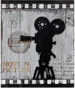 Quadro Filmadora Retrô Recor em MDF e Metal