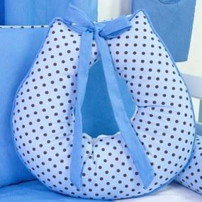 Almofada Amamentação Azul e Poá