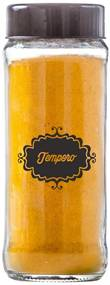 Pote Cilindrinho 330ml Temperos 1 Unidade Tampa Preta - Black