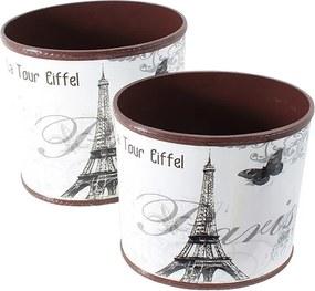 Lixeiras com 2 Peças Eiffel Tower
