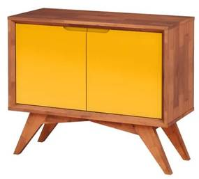 Buffet Uriel 2 Portas Natural e Amarelo - Wood Prime MP 27556