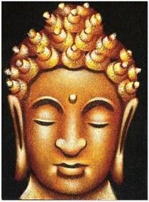 Pintura em Tela de Buda Amarelo 40x30cm