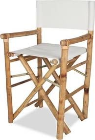 Cadeira Bamboo Diretor na Cor Natural