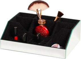 Porta Make E Organizador De Maquiagem Espelhado Vidros