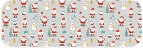Passadeira Love Decor Natal Alegre Cinza