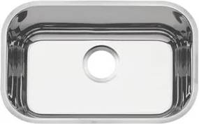 Cuba n.1 Tramontina 47 x 30 x 14 cm Lavínia 47 BL Perfecta em Aço Inox 304 Polido Sem Válvula
