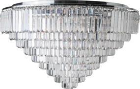 Plafon Sobrepor Cristal Transparente Canopla Cromada