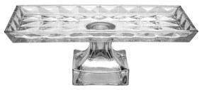 Travessa Cristal Com Pé Diamant 35x18x13cm 35659 Wolff