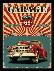 Quadro Garage Route 66 retro
