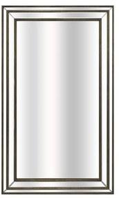Espelho Decorativo Retangular Moldura Prata em Resina - 100x60cm
