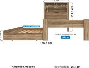 Bicama Solteiro Invicta Atacama 226355 Santos Andirá