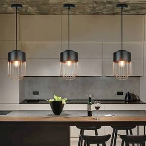 Pendente Arles Premier Iluminação, 127X25 , Metal Na Cor Preta