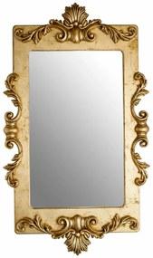 Espelho Lavanda Retangular Entalhado - Dourado Envelhecido Provençal Chateau Blanc