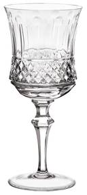 Taça de Cristal Lapidado Artesanal p/ Água - Transparente - 69