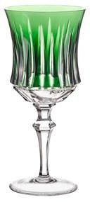 Taça de Cristal Lapidado p/ Água 19 - Verde Escuro