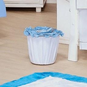 Lixeira Mauricinho Branco e Azul