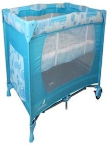 Berço Cercado Cercadinho Para Bebê Portátil Desmontável Eco Azul