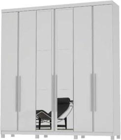 Guarda-Roupa Valença Com Espelho Branco – Mirarack