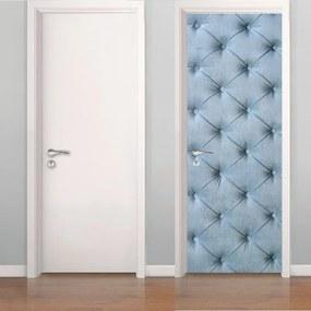 Adesivo De Porta Capitonê Azul Claro (0,80m x 2,10m)