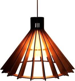 Lustre LED Pendente de Madeira com Acrílico Modelo Dreieck