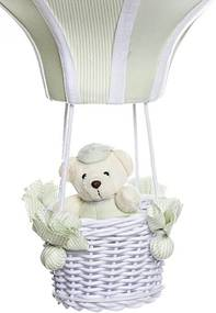 Lustre BalÁo Grande Com Ursinho Quarto Bebê Infantil Potinho de Mel Verde