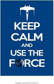 Poster Keep Calm And Use The Force (60x90cm, Apenas Impressão)