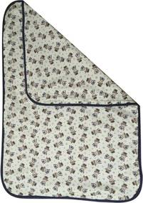 Tapete  Impermeável, Absorvente e Lavável para Desfralde Colo de Mãe Mágico 60cm x90cm - Bege