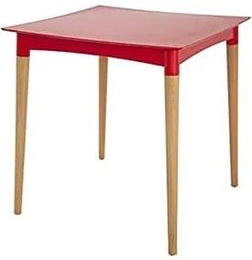 Mesa Quadrada Tramontina Diana Vermelha em Polipropileno com Pernas de Madeira Tramontina 92353040