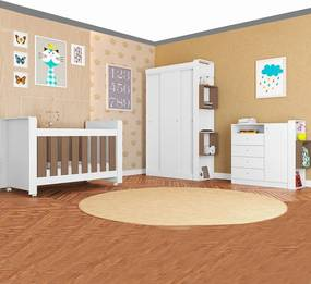 Quarto de Bebê Completo Com Berço Doce Cheiro Montana - Art In Móveis