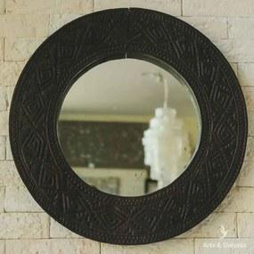 Espelho c/ Moldura Timor Tribal 60cm