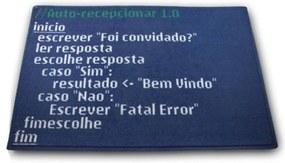 Capacho Código Fonte Geek10 - Preto