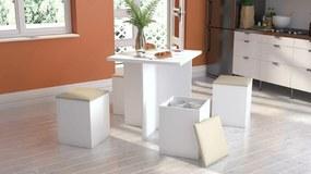 Conjunto Mesa de Jantar 120110 Branco/Bege - Appunto