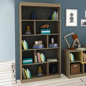 Estante para Livros 93 cm Avelã Tx/Onix Tx - Hecol