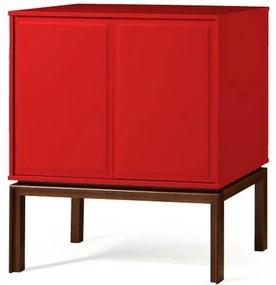 Adega Quartzo 2 Portas Cor Cacau Com Vermelho - 29122 Sun House