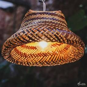 Luminária Cestaria Tikuna Fibra de Arumã