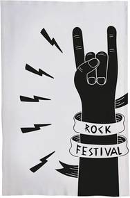 Pano De Prato Nerderia Rock Festival Branco