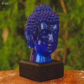 Luminária Cabeça Buda Azul
