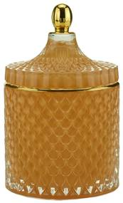 Potiche Decorativo Vidro Laranja 11x17cm 60685 Royal
