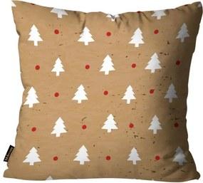 Almofada Mdecore Natal Arvore de Natal Marrom45x45cm