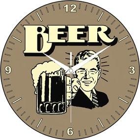 Relógio Beer Marrom