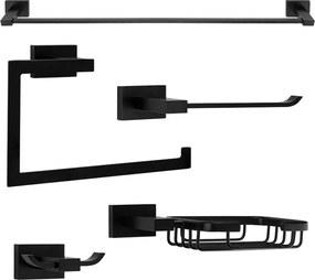 Kit de Acessórios para Banheiro (Mondrian Preto)