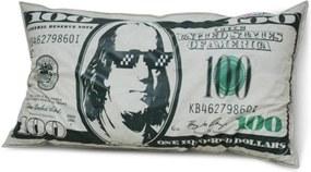 Puff Good Almofadão Formato de Dólar - Verde e branco