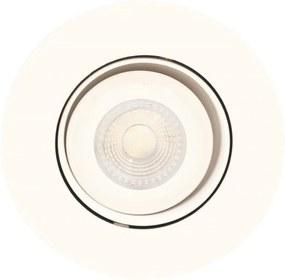 Plafon Embutir Redondo Aluminio Branco Face Plana Recuado