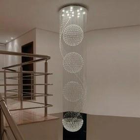 Plafon Sobrepor Vidro Translúcido Cosmos 300Xø80cm