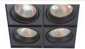 Plafon Embutir Quadruplo Branco Preto Par30 E27 Quadra